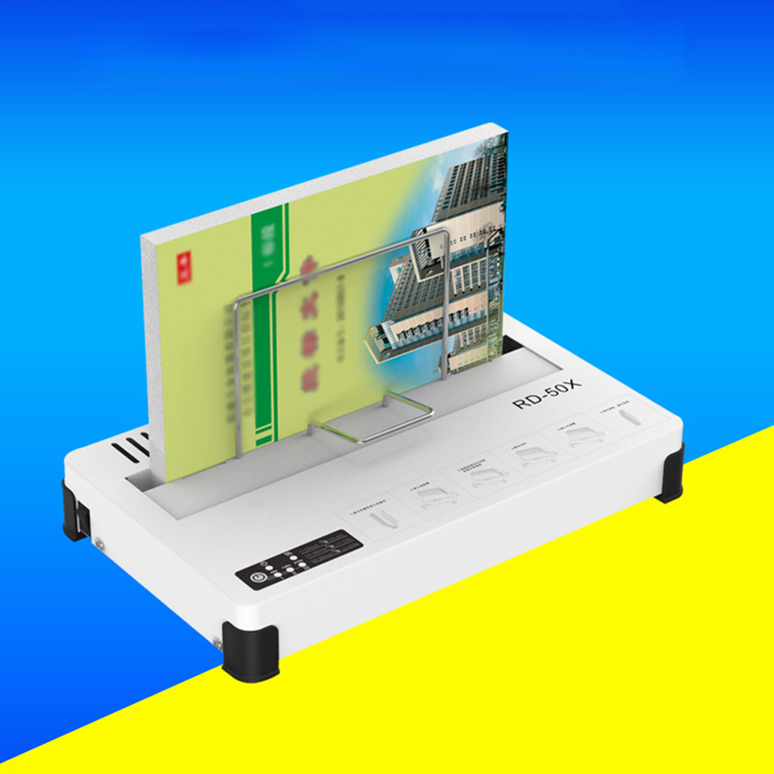 100W RD-50X Hot Melt Thermal Binder Desktop Glue Bookbinding Machine Contract Documents Book Envelopes Hot Melt Binding Machine