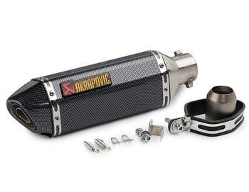 #y66 Akrapovic exhaust pipe with DB killer FOR Benelli tnt 300 Ducati monster 1100 Kawasaki h2r honda cb 400 yamaha xt