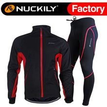 Cycling Pant Set Suit Sportswear Jacket Bike Motocross Warm Winter Thermal Man Windproof