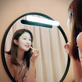3W LED przenośne akcesoria do makijażu lustro lampka nad lustro lampa 5V ochrona oczu akumulator wiszące lampy magnetyczne lustro Selfie Night Light tanie i dobre opinie YANKE CN (pochodzenie) PRZEŁĄCZNIK Portable Makeup Light 1800mAh natural light