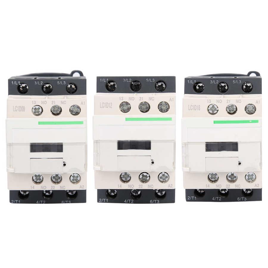 LC1-D 220V 9A/12A/18A 3-полюсная катушка 50/60 Гц электрический контактор переменного тока