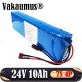 7S4P 24V 10Ah аккумулятор с 15A BMS 250w 29 4 V 10000mAh аккумулятор для двигателя Электрический велосипед мощность + без зарядного устройства Быстрая достав...