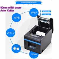 High-quality 80mm thermal Small ticket receipt printer automatic cutting printing with Bluetooth USB port or Ethernet WIFI