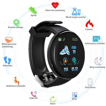 FXM 2019 Bluetooth Smart Men Watch Blood Pressure Round Digital Watch Women Waterproof Sport Tracker WhatsApp For Android IOS diggro di10 smart sport watch ip68 waterproof pedomete long standby time bluetooth 4 0 smart 1 21 inch watch for ios android