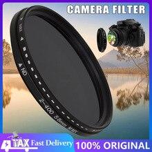 Fader değişken ND filtre ayarlanabilir ND2 To ND400 nötr yoğunluk kamera aksesuarları Lens 11x11x2.5CM polarize filtre
