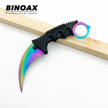 Binoax Mini Folding Knife Serge Tactical Camping Hunting Key Chain Pocket Bean Knives Handle EDC Multi Tools