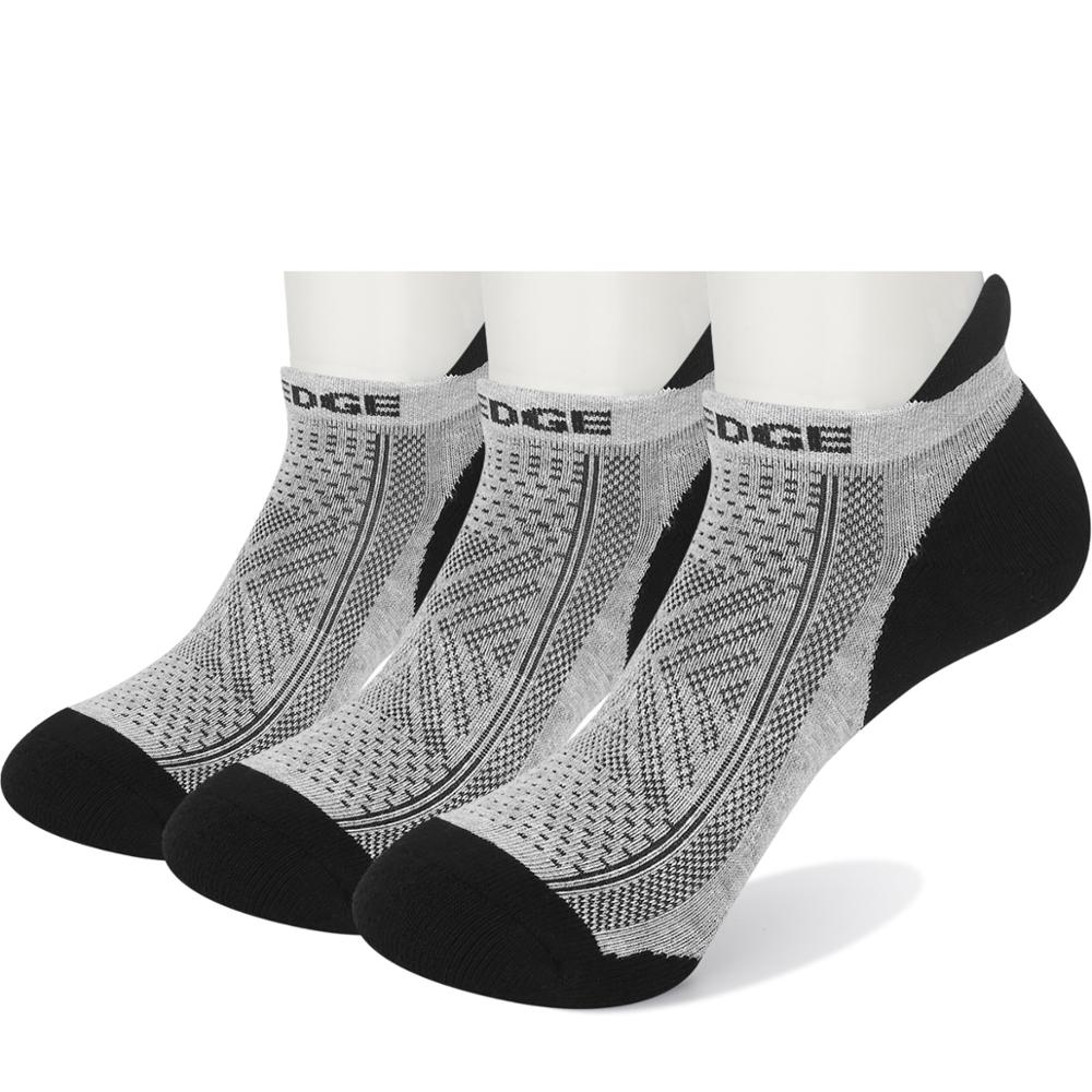 YUEDGE brand mens sweat-wicking breathable padded cotton comfortable short boat socks sports leisure running