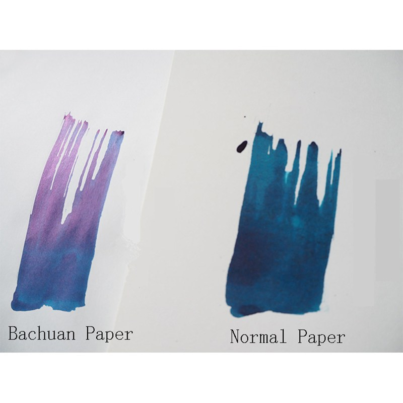 10 Sheets Ultrathin Bachuan Paper Sheen Color Ink Painting Paper For Drawing Painting Hand-Painted Calligraphy Letter Paper
