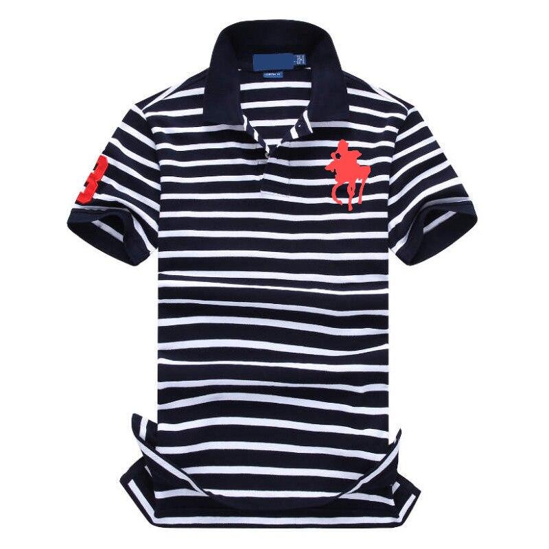 2019 New Famous Brand Men's   Polo   Shirts Breathable 100% cotton stripe   Polo   mens Embroidery   Polos   men homme golf   Polo   shirt men