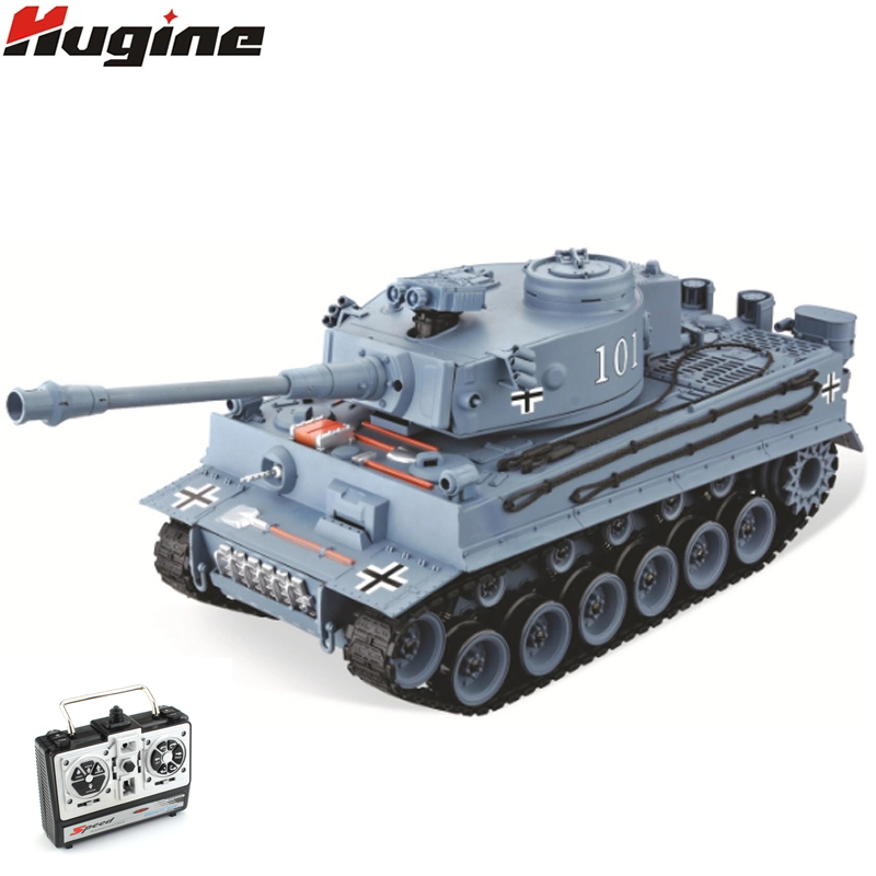 2.4G RC Tank US German Tiger 101 Large Can Launch Bullet Military Truck 1:20 Big Size Simulation Tank Children's Toy Model Gifts