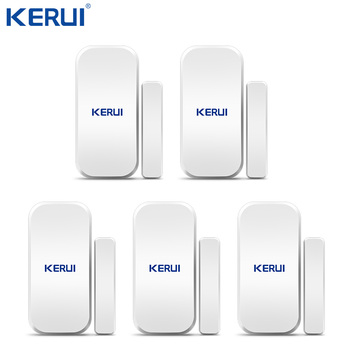 Kerui 5PCS 433MHz Wireless Door Window Magnetic Detector Gap Sensor  For Home Security Alarm System Touch Keypad wireless door window sensor detector magnetic switch normally closed for our home security alarm system