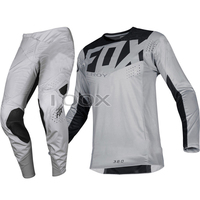 2019 troia Fox MX 360 Kila pantaloni in Jersey grigio Combo Motocross Dirt Bike Off Road Set di attrezzi da corsa per adulti