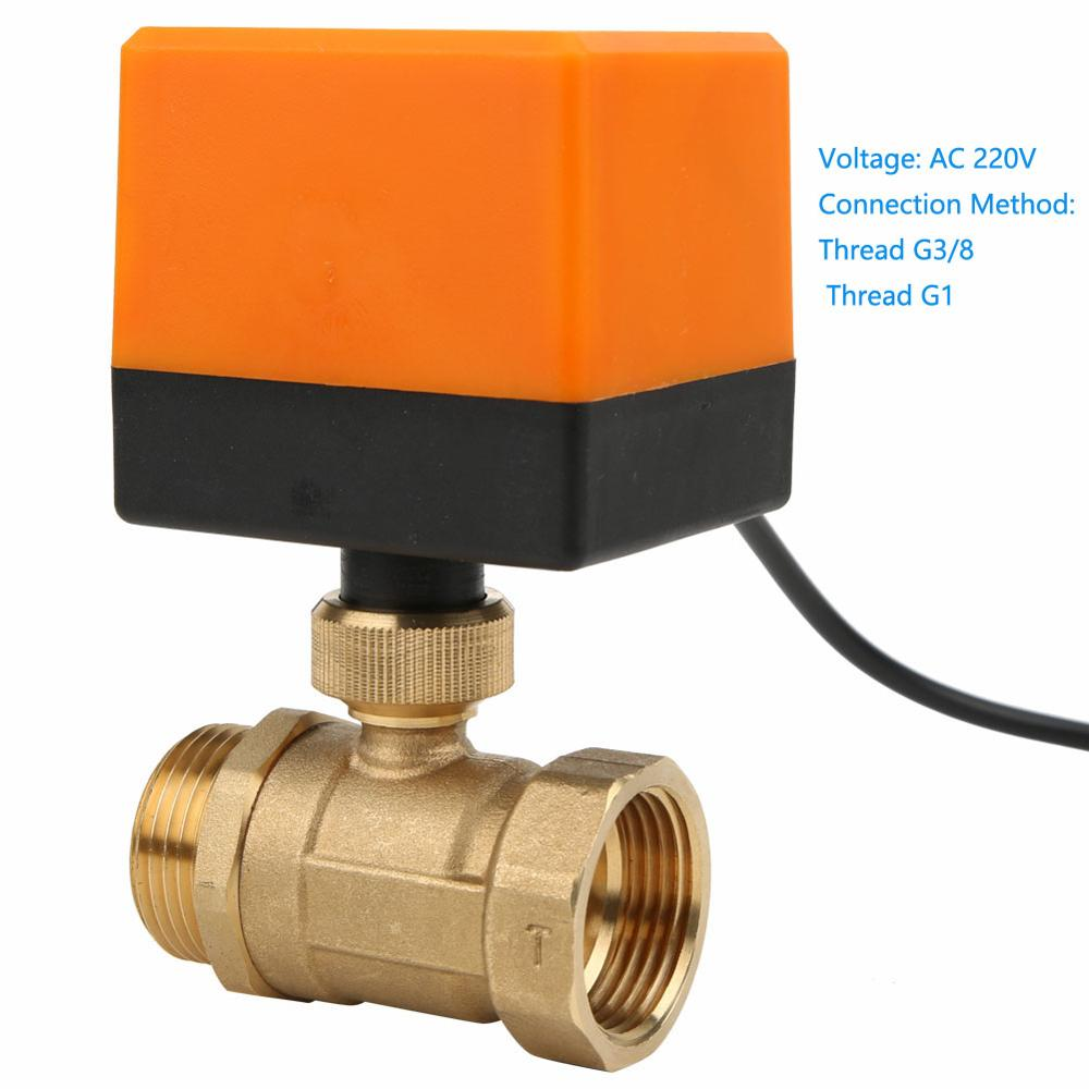 DN20 AC220v DC24v DC12v electric motorized brass ball valve with electric drive actuator 2 way G3//4 plumbing CN01 CN02 Inlet Voltage : DC24V, Wiring Control : CN01