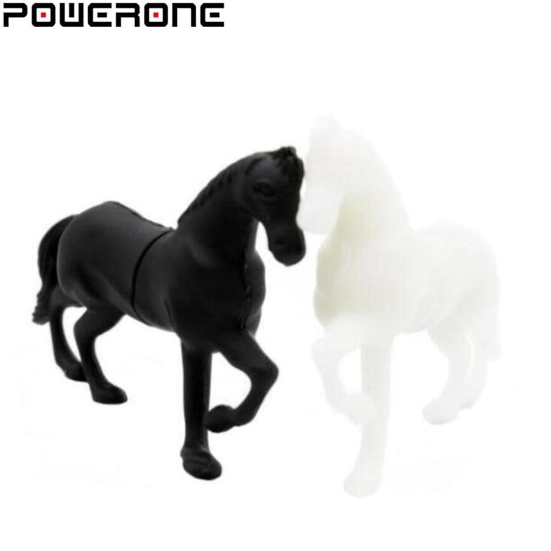 POWERONE Horse Usb Flash Drive Horses Pendrive 4GB 8GB 16GB 32GB 64GB Cartoon Animal Pendrives Memory Stick