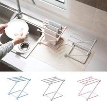 Folding Towel Stand Rack Kitchen Washing Cloth Draining Plastic Organizer Shelf Durable space-saving