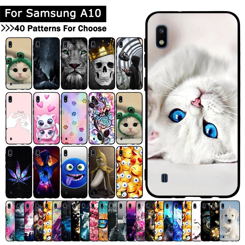 Luxury <font><b>Case</b></font> For <font><b>Samsung</b></font> Galaxy <font><b>A10</b></font> Phone Cover Animal Cartoon Cute Soft Silicone TPU <font><b>Cases</b></font> Back Phone Covers Capa Coque Fundas image