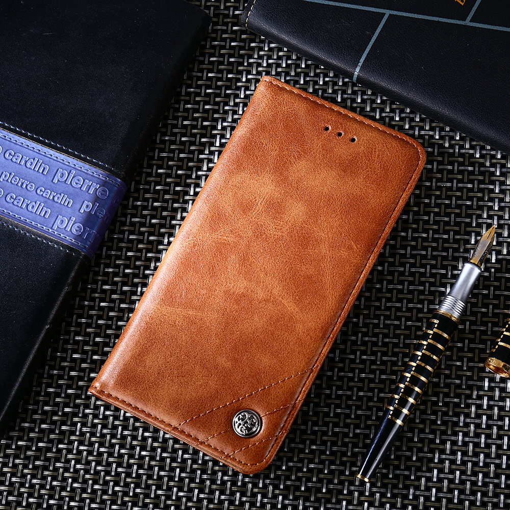 Luxury Flip <font><b>case</b></font> Leather Cover For Xiaomi 5 6 8 <font><b>8SE</b></font> 9 A1 A2 A3 For Redmi 6A Note 4 4X 6 Note 7 8 VISA card Wallet Classic Cover image