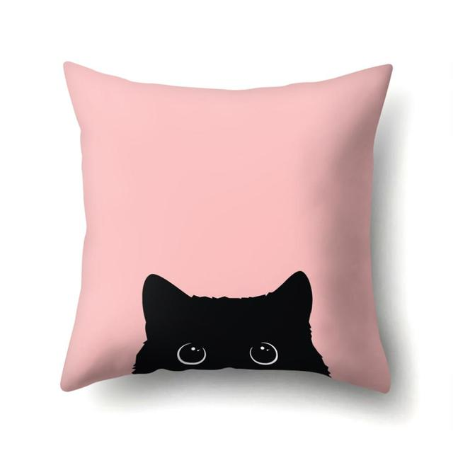 For Pet Fans Home Decors Cat Print Cushion Cover  My Pet World Store