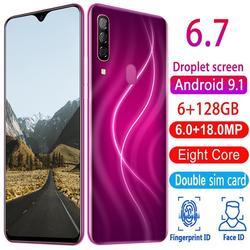 Nieuwe Smartphones A70 Pro 6G Ram 128G Rom Mobiele Telefoons Android 9.1 Vingerafdrukherkenning Unlocked 6.7 Hd + 720X1560 Mobiele Telefoons