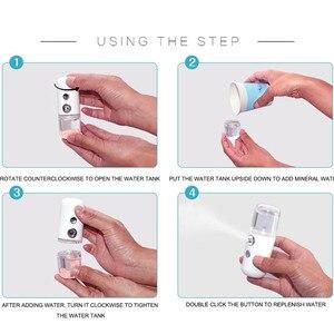 Image 5 - 30ML Mini Nano Facial Sprayer USB Nebulizer Face Steamer Humidifier Hydrating Anti aging Wrinkle Women Beauty Skin Care Tools