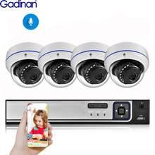 Gadinan CCTV 4CH H.265 NVR Kit 5MP 3MP 2MP IP Camera HDMI Video Surveillance System Waterproof Outdoor Security Camera Kit