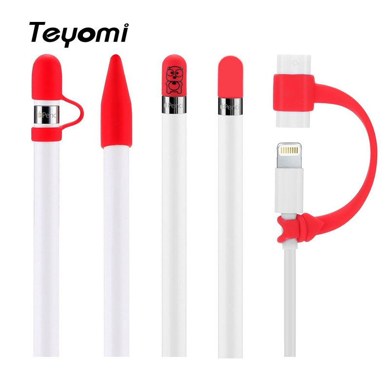 Teyomi Compatible Apple Pencil Cap Holder Anti-lost Cap Holder Nib Cover Dust-proof Lightweight Silicone For IPad Apple Pencil
