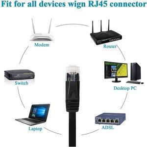 Image 4 - CAT6 שטוח Ethernet כבל RJ45 Lan כבל רשת Ethernet תיקון כבל חתול 6 כבל רשת למחשב נתב נייד