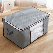 New Storage For Clothes Box Clear Window Home Practice Quilt Blanket Bag Portable Canvas Folding Pillow Organize Big Bag XA566F