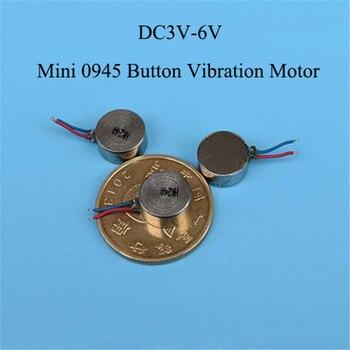 1 unidad DC 3V-6V Motor plano de vibración Mini 0945 DC Motor botón tipo Micro DC Motor de vibración equipo eléctrico Accesorios de Motor