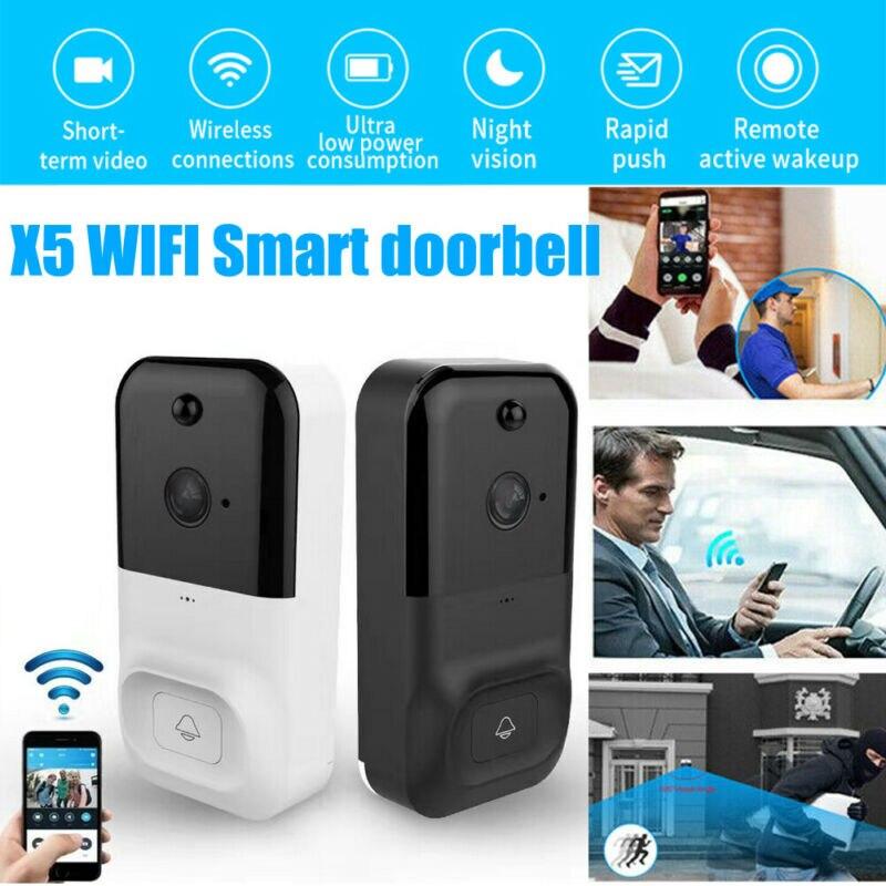 2020 New X5 Wireless WiFi Smart Video Doorbell HD Two-way Cellphone Door Ring Intercom Security Camera IR Night Motion Detection