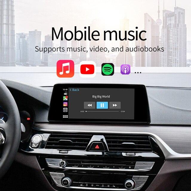 Bezprzewodowy Apple CarPlay Android Auto interfejs adapter BOX dla BMW serii 1 2 3 4 5 7 mini X1 X3 X4 X5 X6 X7 CIC/NBT System