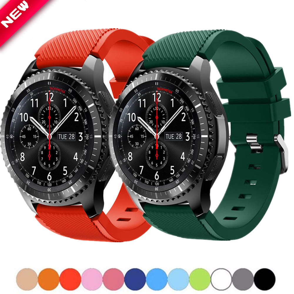 20MM 22MM Active 2 Strap For Samsung Galaxy Watch 46mm Band For Gear S3 Frontier /Active Sport Silicone Replacement Watchbands