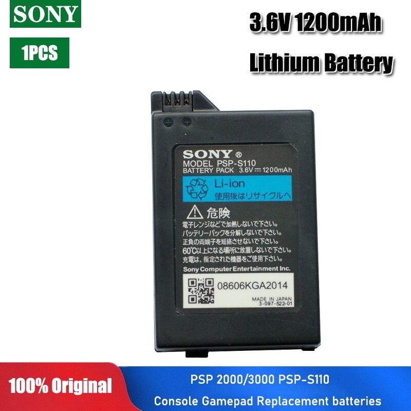 Литий-ионный перезаряжаемый аккумулятор для Sony PSP 3,6 PSP-S110, 1 шт., 1200 в, 2000/3000 мАч