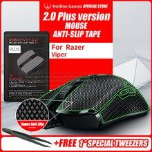 Hotline Games Fita antiderrapante do aperto do rato 2.0plus para o razer viper/viper final, atualização do aperto, absorção da umidade, fácil de aplicar