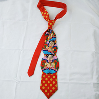 mens silk ties China Spring Festival traditional Mammon red unique neckties bridegroom wedding neck tie Bodhisattva ethnic male