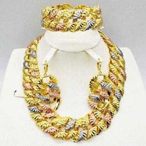 Модные ювелирные изделия высокого качества, Свадебный комплект в Африканском защитном цвете, Дубай, Итальянские женские ожерелья, серьги, т...