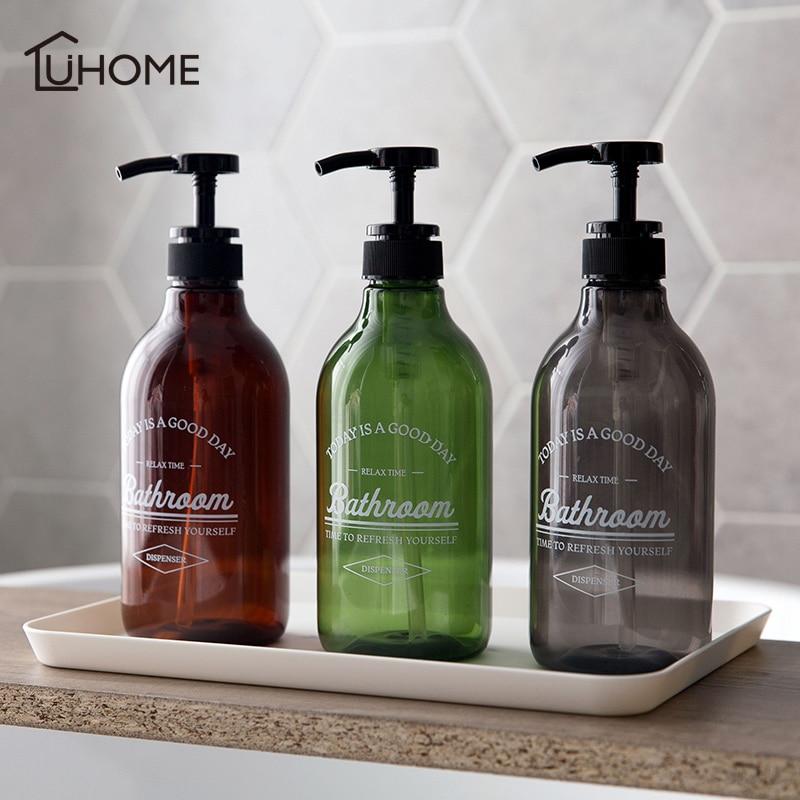 300/500/600ml Soap Dispenser Cosmetics Bottles Bathroom Hand Sanitizer Shampoo Body Wash Lotion Bottle Outdoor Travel Sub-bottle