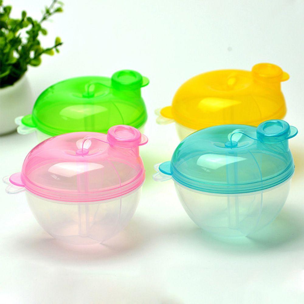 Portable Baby Cartoon Milk Powder Dispenser Food Formula Container Storage Feeding Box 3Layer Travel Storage Box For Kids