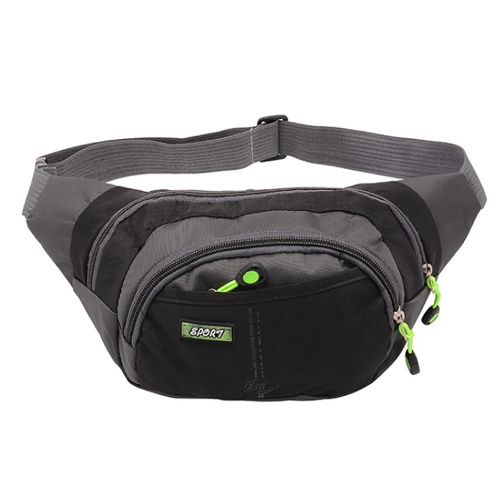 Unisex Waist Bags Sport Pack Running Travel Waterproof Pockets Phone Wallet Simple Stylish Casual Versatile  Personality H1