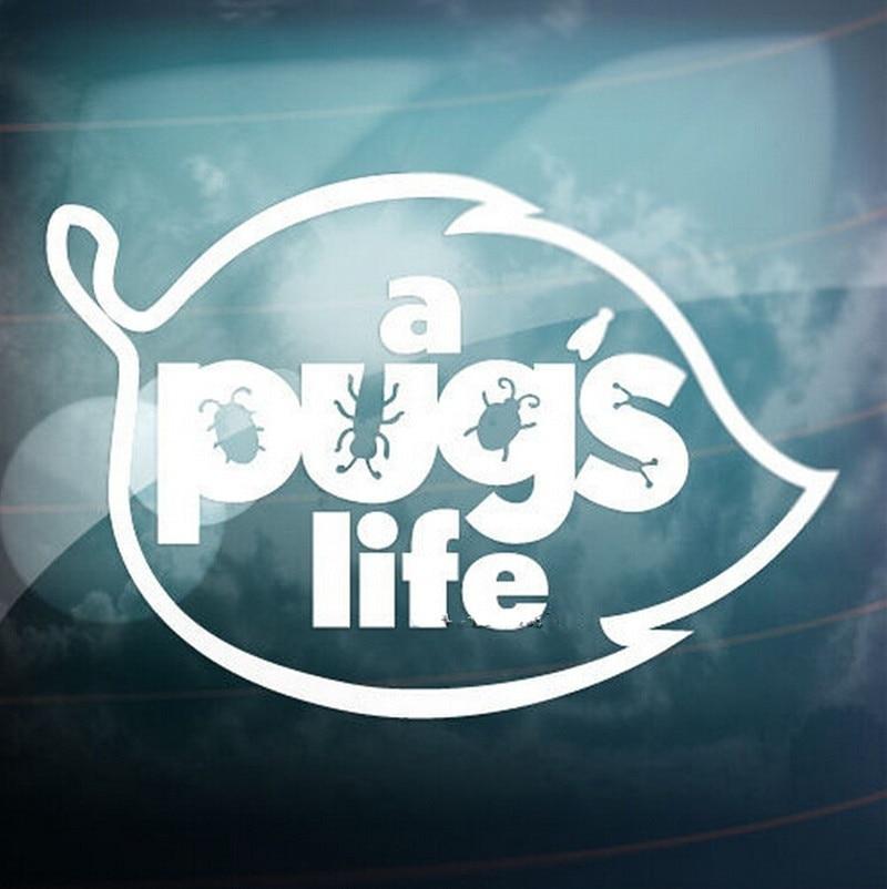 Смешная наклейка A PUG'S LIFE, наклейка на окно, бампер, Виниловая наклейка 10x15 см