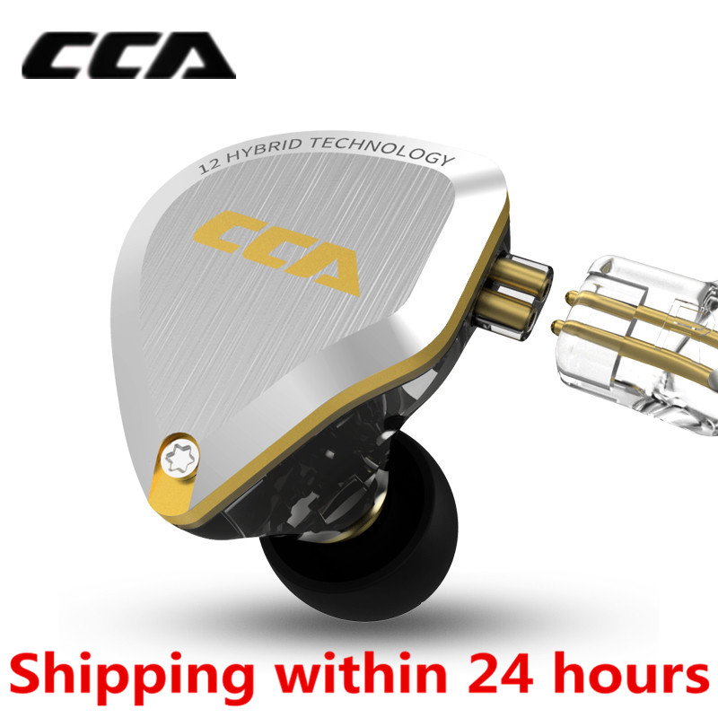 New CCA C12 5BA+1DD Hybrid Metal Headset HIFI Bass Earbuds In Ear Monitor Headphones Noise Cancelling Earphones C10 C16 ZSX A10-in Phone Earphones & Headphones from Consumer Electronics