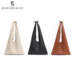Image 4 - SC Knotted Handle Cow Leather Hobo Bag Femal High Quality Luxury Design Brand Genuine Italian Leather Big Women Shoulder Bags