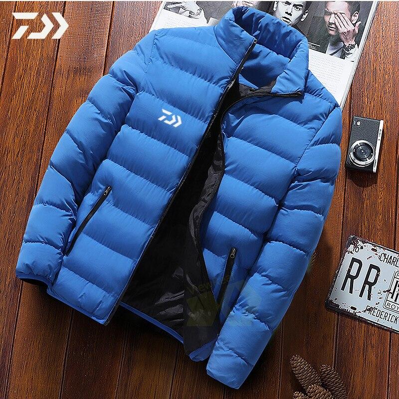 Daiwa Fishing Jacket Men Clothes For Winter Shirt Warm Multi-pocket Zipper Fishing Clothing Men's Winter Jacket Fishing Shirt