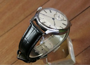Image 3 - 44mm GEERVO convex mirror white dial Asian 6497 17 jewels Mechanical Hand Wind movement mens watch Mechanical watches gr314 g8
