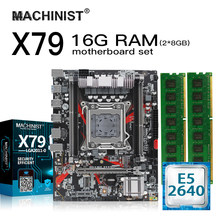 X79 Desktop Motherboard LGA 2011 Set Kit dengan Intel Xeon E5 2640 Processor 8GB(2X4GB) ECC DDR3 Memori RAM M-ATX M.2 NVME SSD(China)