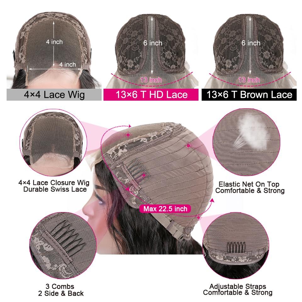 YYong 4x4 Lace Closure Wigs 32inch Long  Loose Deep Wave 1x6 Topline HD Transparent T Part Lace Wigs  Wig 3