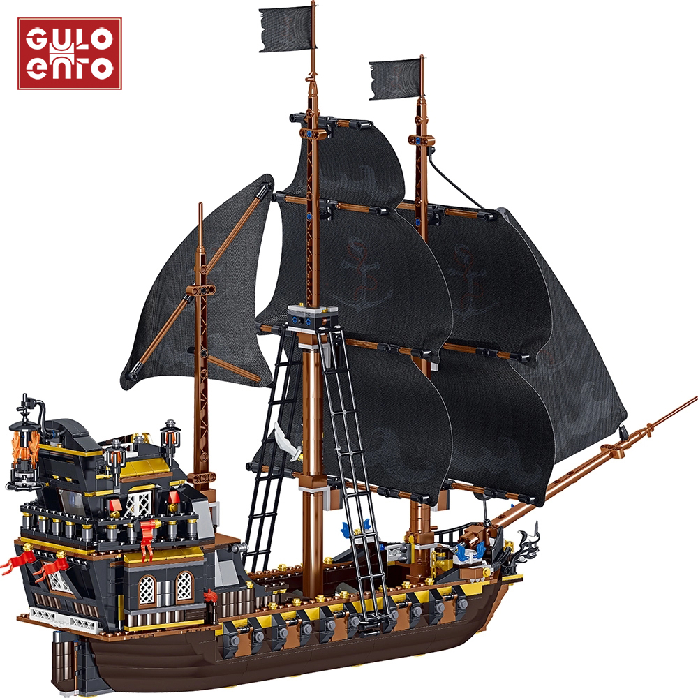 Pirates Ship Building Blocks Toy Puzzle Boat Educational Toy Gift for Child Kids