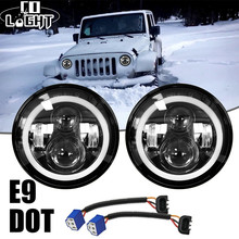 CO LIGHT 2pcs 7 Inch Led Driving Light 40W 20W H4 H13 LED Car Headlight Kit Auto For Jeep Led Head Lamp Bulbs Dipped & High Beam