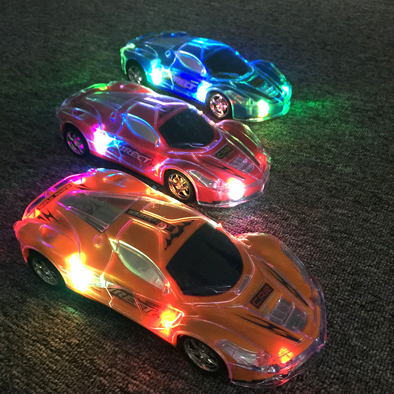 New Style Stall Night Market Hot Selling Toy All Lights Colorful Universal Sports Car Children Shining Electric Toy Car