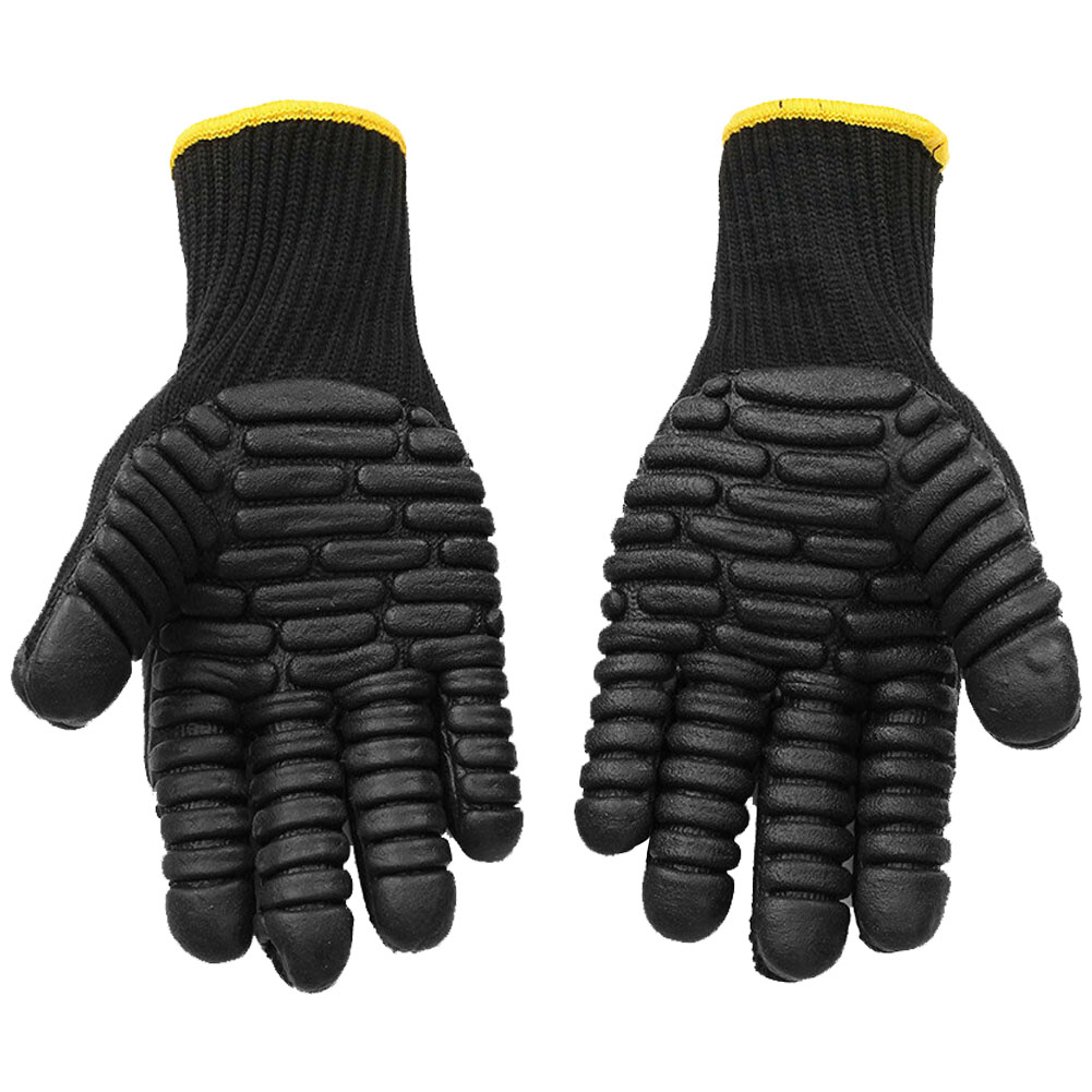 1Pair Oil Anti <font><b>Vibration</b></font> Industrial Reducing Protective Outdoor Mechanical Safety <font><b>Gloves</b></font> Shockproof Garden Cut Resistant Work image